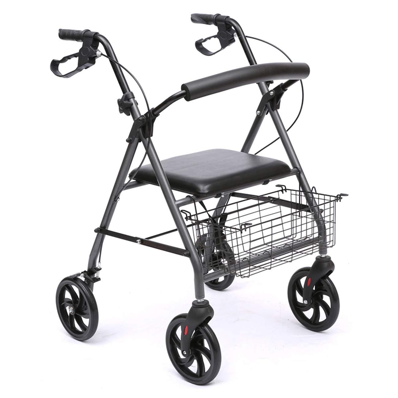 新品同様 高齢者ウォーカー、4輪シートウォーキングウォーカー B07KT38JQD、アルミ合金構造補助歩行者を運ぶ B07KT38JQD, コスゲムラ:1b7a2ce9 --- a0267596.xsph.ru