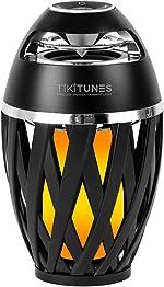 TikiTunes Portable Bluetooth 5.0 Indoor/Outdoor Wireless Speakers, LED Torch Atmospheric Lighting