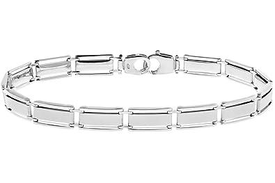 Citerna Sterling Silver Rectangle Bar Links Bracelet of Length 20.5 cm QsvQ4FdD3T
