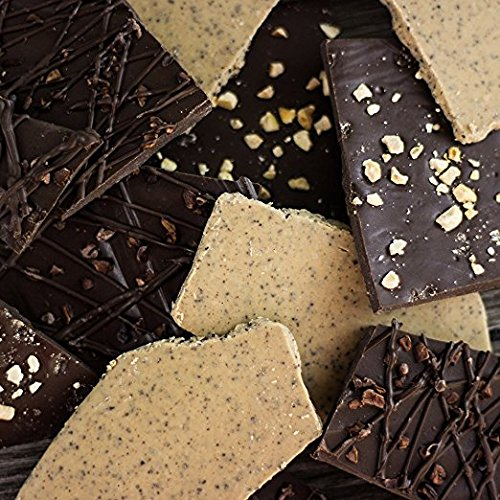 Cafe Trio Chocolate Bark Gift Box: Mouth-Watering Flavors with Unique Coffee Flair - Gourmet Gift Basket Fit For Any Holiday - 1 Pound