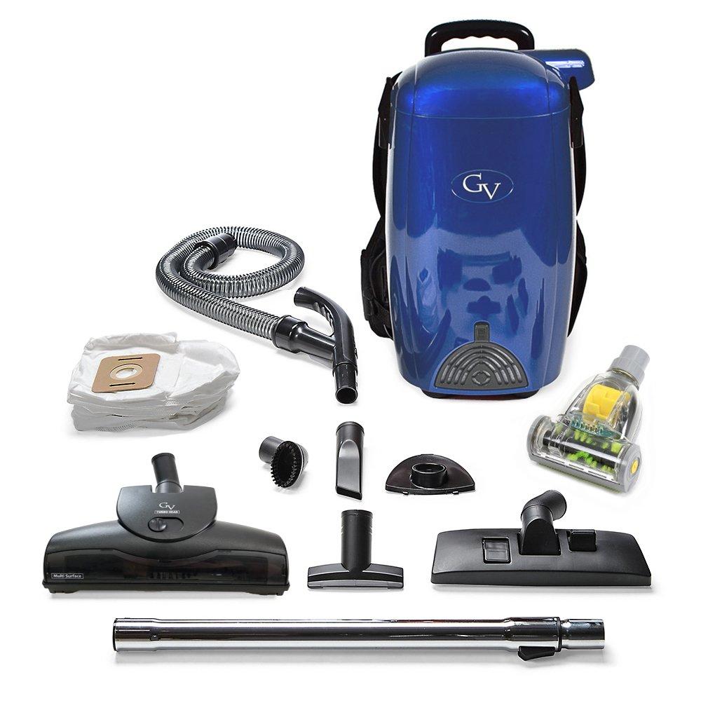 GV Blue 8 Qt Quart Light Powerful HEPA Backpack Vacuum Blower Loaded w 2 yr Warranty