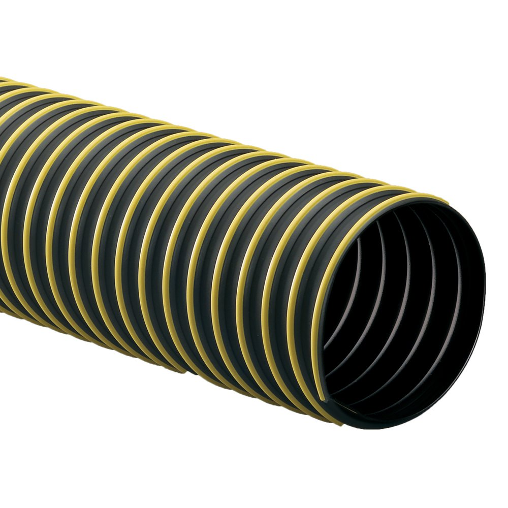 Rubber-Cal Thermoplastic Flex (Medium-Duty) Thermoplastic Hose - 3'' ID x 12.5ft Length Hose -Black (Fully Stretched) by Rubber-Cal