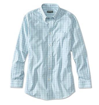 7cedf5cf37e7dd Orvis Men's Ez-Cool Poplin Mini-Check Long-Sleeved Shirt at Amazon ...