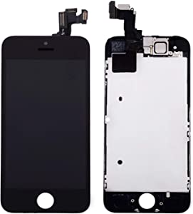 Nroech for iPhone 5 Screen Replacement Black, 4.0