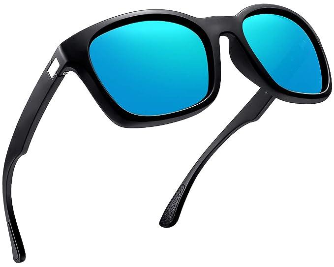 8b87cae3e9 Polarized Sunglasses for Men Women Classic Outdoor Driving Sun Glasses  Shades (Ice Blue)