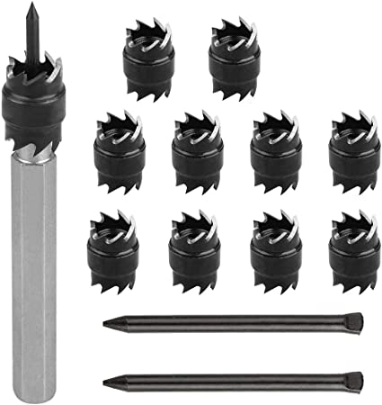 """Double Side 13pcs 3//8/"""" Rotary Spot Weld Cutter Remover Drill Bits Cut Welds Tool"""