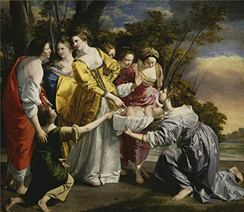 [The Polyster Canvas Of Oil Painting 'Gentileschi Orazio Lomi De Moses Saved From The Waters 1633 ' ,size: 18 X 21 Inch / 46 X 53 Cm ,this Best Price Art Decorative Canvas Prints Is Fit For Kids Room Decor And Home Decor And] (Moses Costume Ten Commandments)