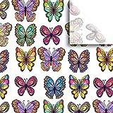 "JAM Paper® Printed Gift Tissue - Flutter - 20"" x 30"" - 240 Sheets"