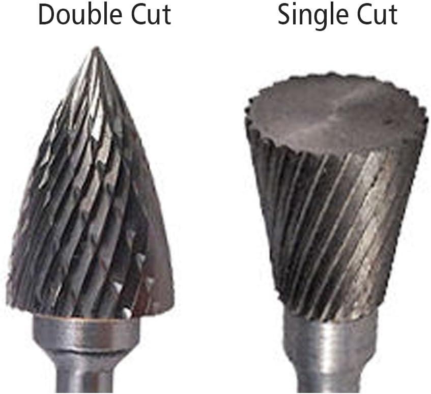 """1//2/"""" Diameter 1//4/"""" Shank Spherical Ball USA Carbide Burr Aluminum Cut SD-5NF"""