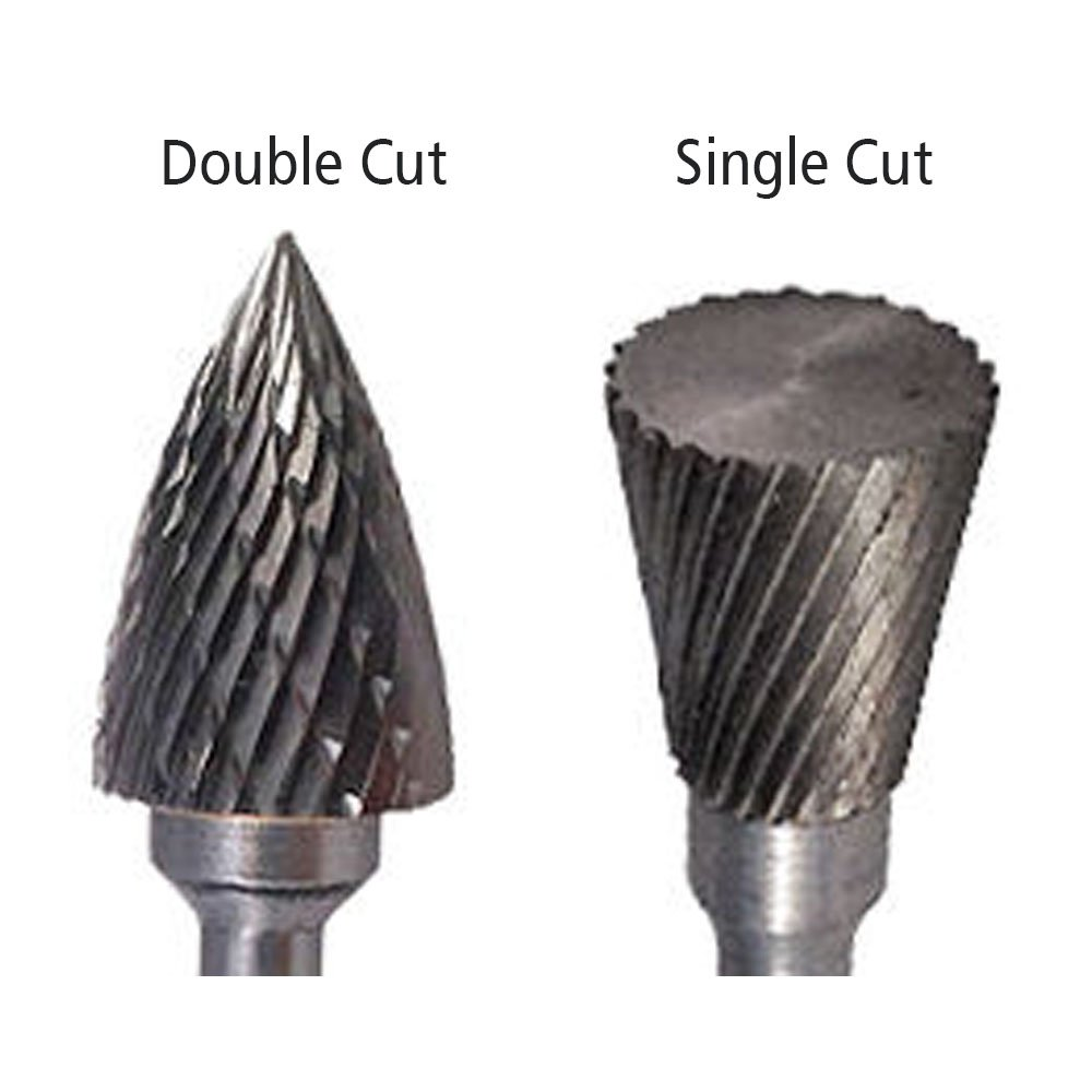 SF-7 Tree Radius End Shape Carbide Burr Die Grinder Bit Double Cut