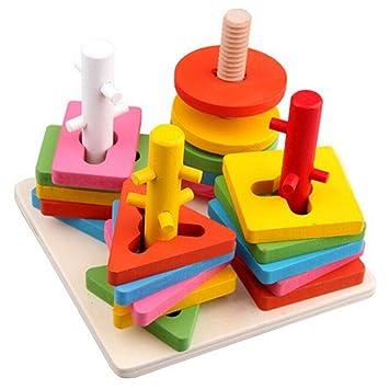 hibote para nios los primeros juguetes educativos de madera montessori geomtricos juguetes de aprendizaje para