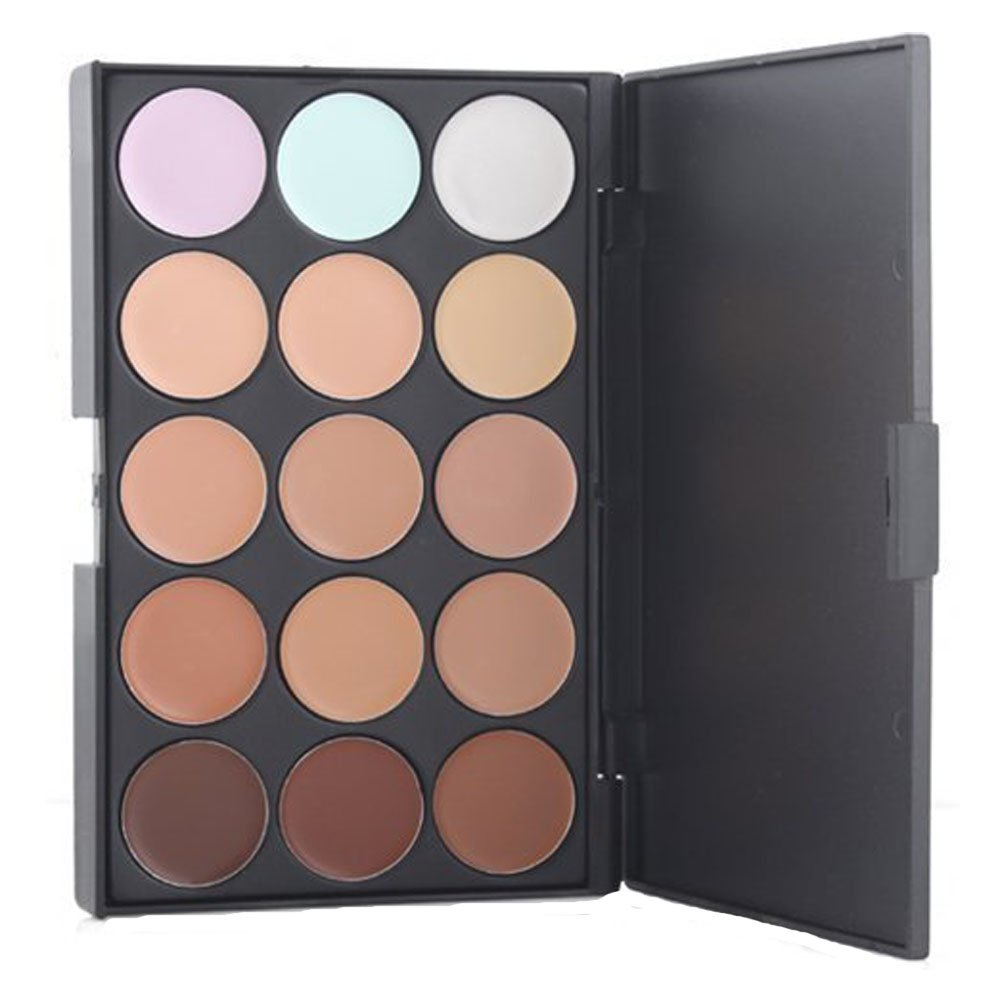 KOLIGHT Professional 15 Color Cream Concealer Camouflage Foundation Makeup Palette Contour Face Contouring Kit