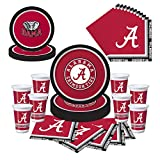 Alabama Crimson Tide Party Pack - Plates, Napkins, Cups - Serves 8