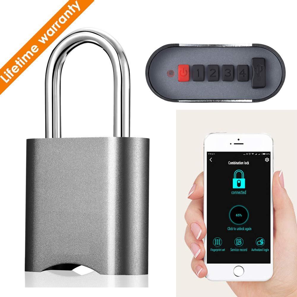 Xiangge Smart Combination Lock Padlock,Dustproof and Waterproof IP65 Smart Remote Control Luggage Lock for Indoor and Outdoor Use