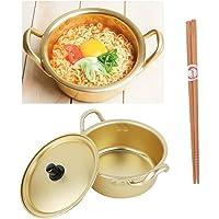 """Korean Noodle Pot Hot Shin Ramyun Aluminum 6.3""""(16cm) + SoltreeBundle Natural Bamboo Chopstick (1 Pairs)"""