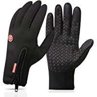 Nahsaria Gants d'écran Tactile,Gants Chauds d'hiver Coupe-Vent et Imperméables pour Les Sports de Plein Air (Hommes et Femmes)