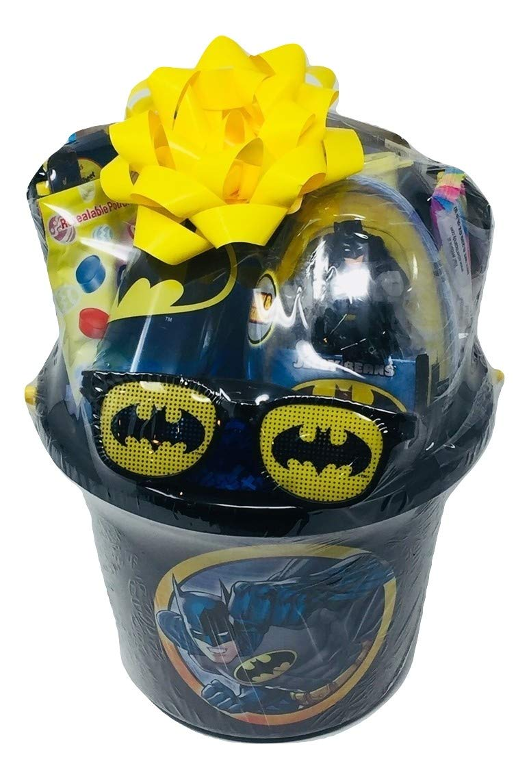 Batman Gift Set Bundle with Batman Miniature Action Figure, Batman Coloring Book, Batman Stickers, Batman Play Pack, Batman Water Bottle & More
