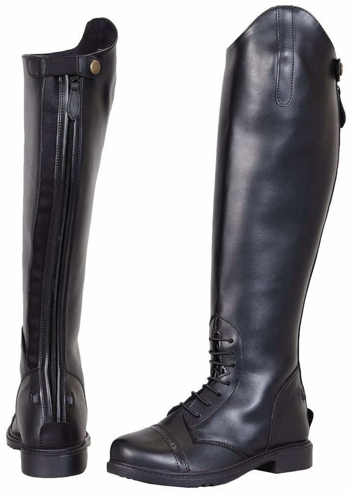 TuffRider Women's Starter Back Zip Field Boots in Synthetic Leather B003YLL70Y 6|Black