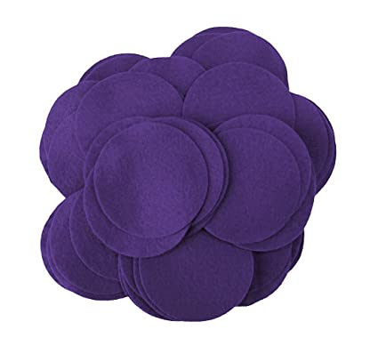 Playfully Ever After 3 Inch Purple 30pc Felt Circles