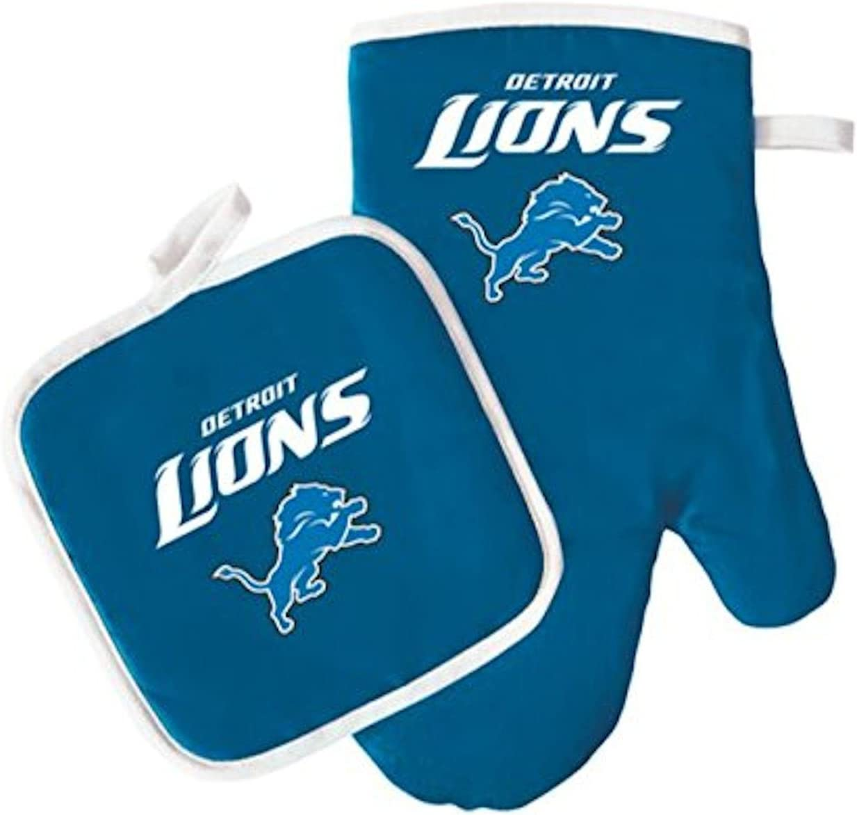 NFL Detroit Lions Logo Oven Mitt & Pot Holder, One Size, Blue