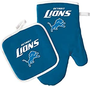 NFL Detroit Lions Logo Oven Mitt & Pot Holder, One Size, Blue