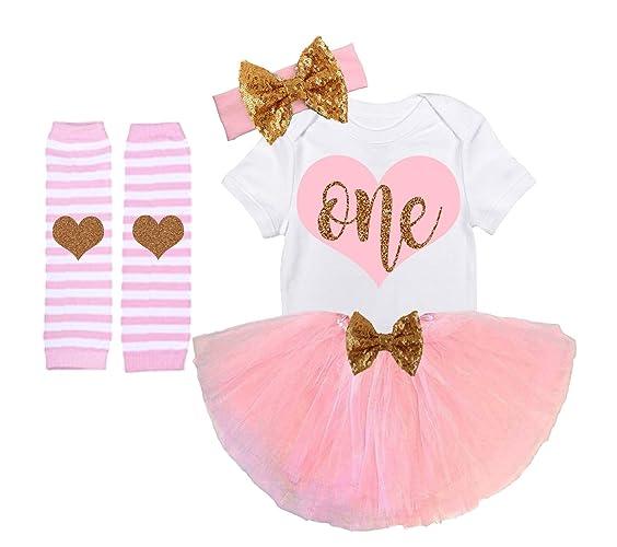04f375bf12 Amazon.com  Girls First Birthday Outfit Handmade Pink Gold  Handmade