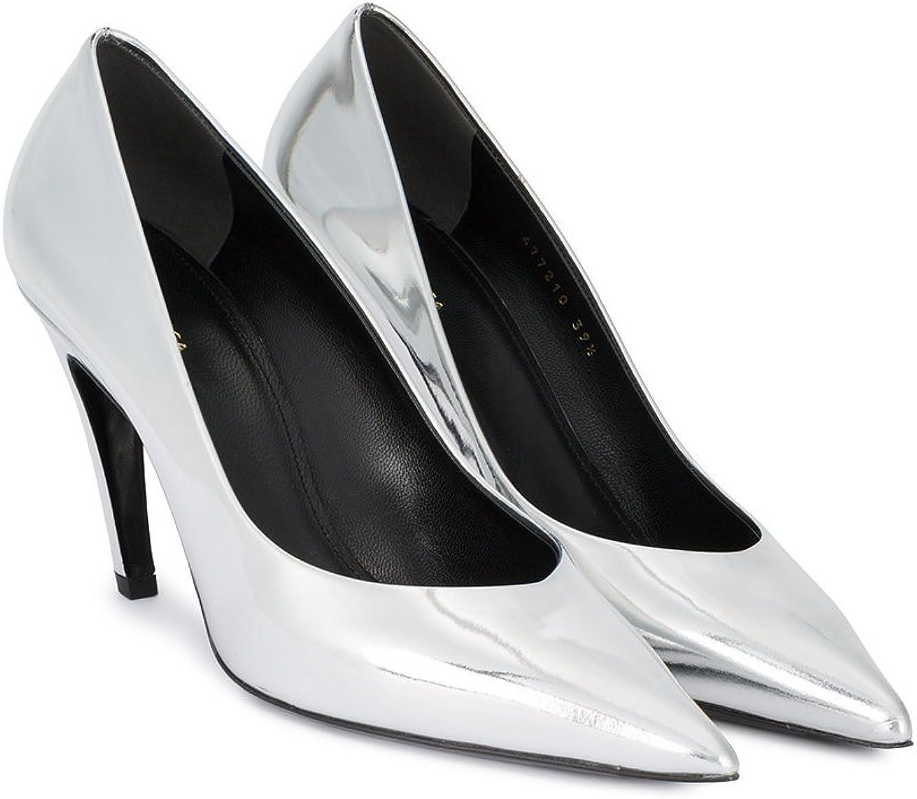 Balenciaga Damen 477210Wa0v08106 Silber Leder Pumps: Amazon