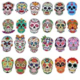 50 Pieces Vinyl Waterproof Skull Sticker...