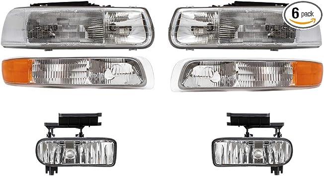 For Chevrolet Silverado 1500 2500 3500 99-07 LED Headlight Hi//Lo Beam Fog Bulbs