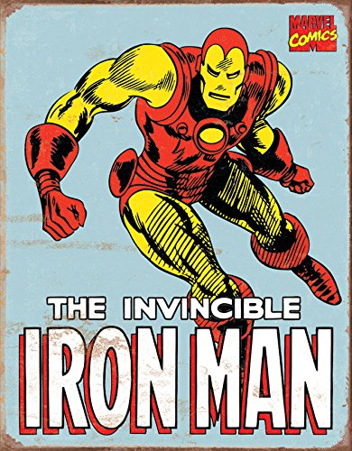Old Tin Signs The_Invincible_Iron_Man_Marvel_Comics_Vintage