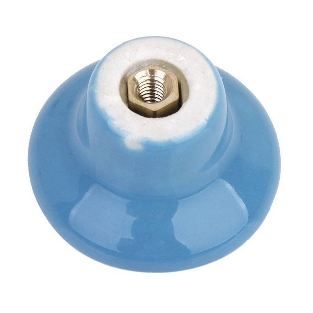 Choubao 12PCS Blue Drawer Cupboard Cabinet Knobs Wardrobe Home Kitchen Hardware Knob Colorful Round Ceramic Pull Handle - S by Choubao (Image #4)