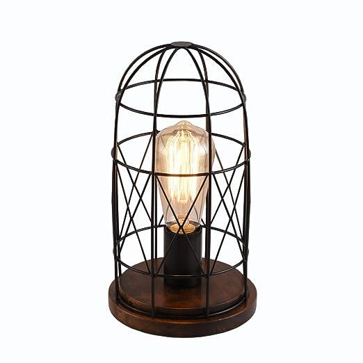 delle fabricado Madera Retro lámpara de mesa lámpara de ...