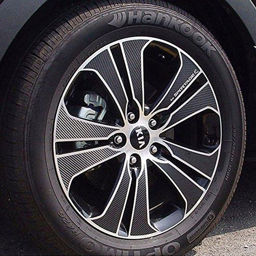 Carbon Tuning Wheel Hub Mask decal Sticker Set for KIA Sportage R (Kia Sportage Diesel)