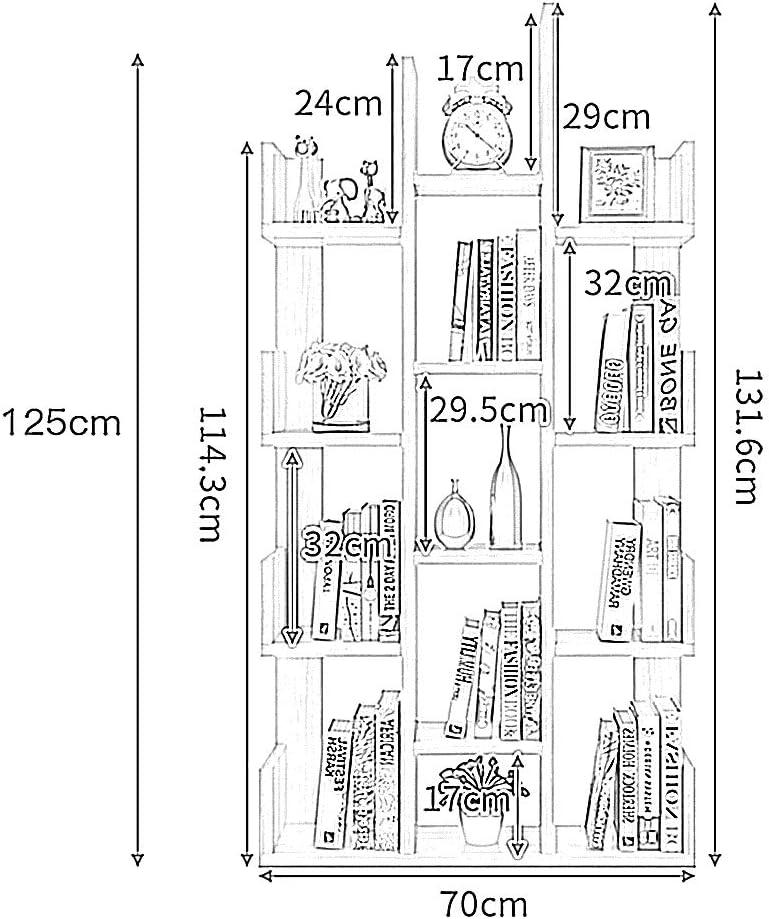 FEI Mensole Simple Bookshelf Floor Living Room Racks Camera da Letto per Bambini Libreria Office Assembly Storage Semplice Colore : Giallo
