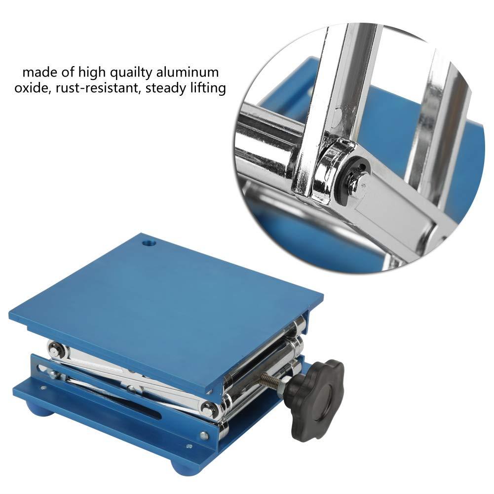 150 * 150 * 250 mm Aluminiumoxid-Labor-Hebeb/ühnenst/änder Laborst/änder Scherengestell Laborausstattung und Zubeh/ör