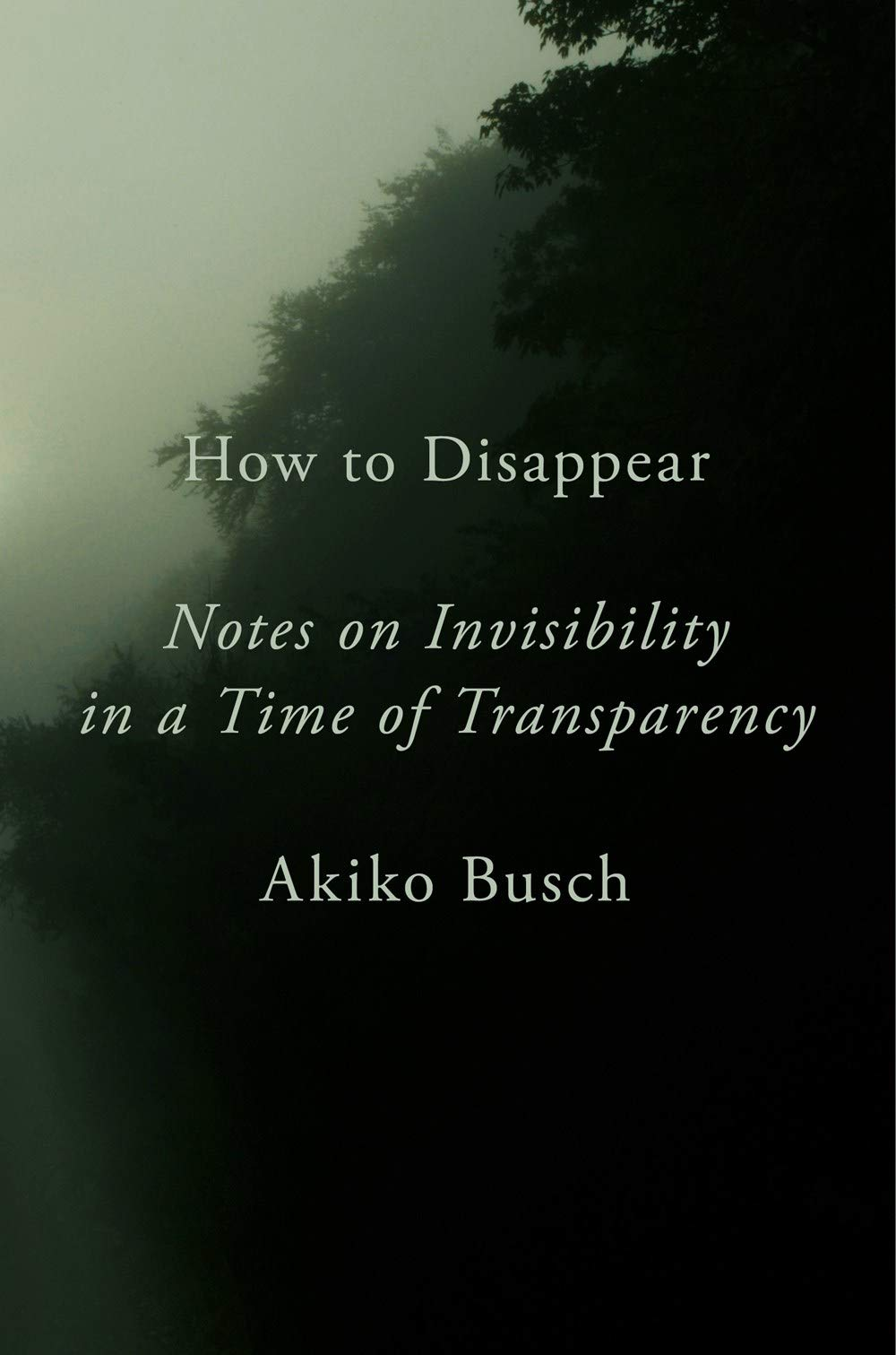 How to Disappear: Notes on Invisibility in a Time of Transparency: Busch,  Akiko: 9781101980415: Amazon.com: Books
