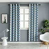 Cheap Mangata Casa Geometric Trellis Printed Room Darkening/Thermal Insulated Grommet Unlined Window Curtains 52X96in (1 Panel)