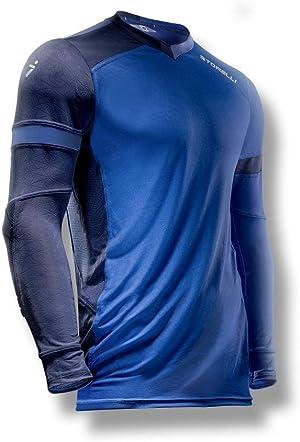 Storelli ExoShield Gladiator Goalkeeper Jersey | Padded Elbow Sleeves | Lightweight Soccer Jersey Shirt | Hydra | Youth Extra Large