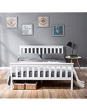 LIFE CARVER Metal Bed Frame Black Strong Frame for Adults Kids Teenagers