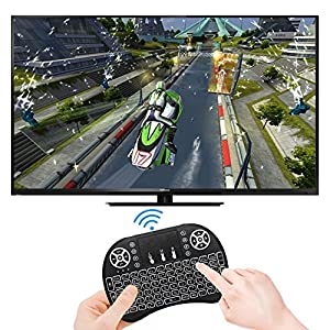 Remote Backlit Mini Wireless Keyboard, BIFANS 2.4GHz Portable Wireless Keyboard with Touchpad Mouse, Best For Android Smart Tv Box HTPC IPTV PC Pad XBOX