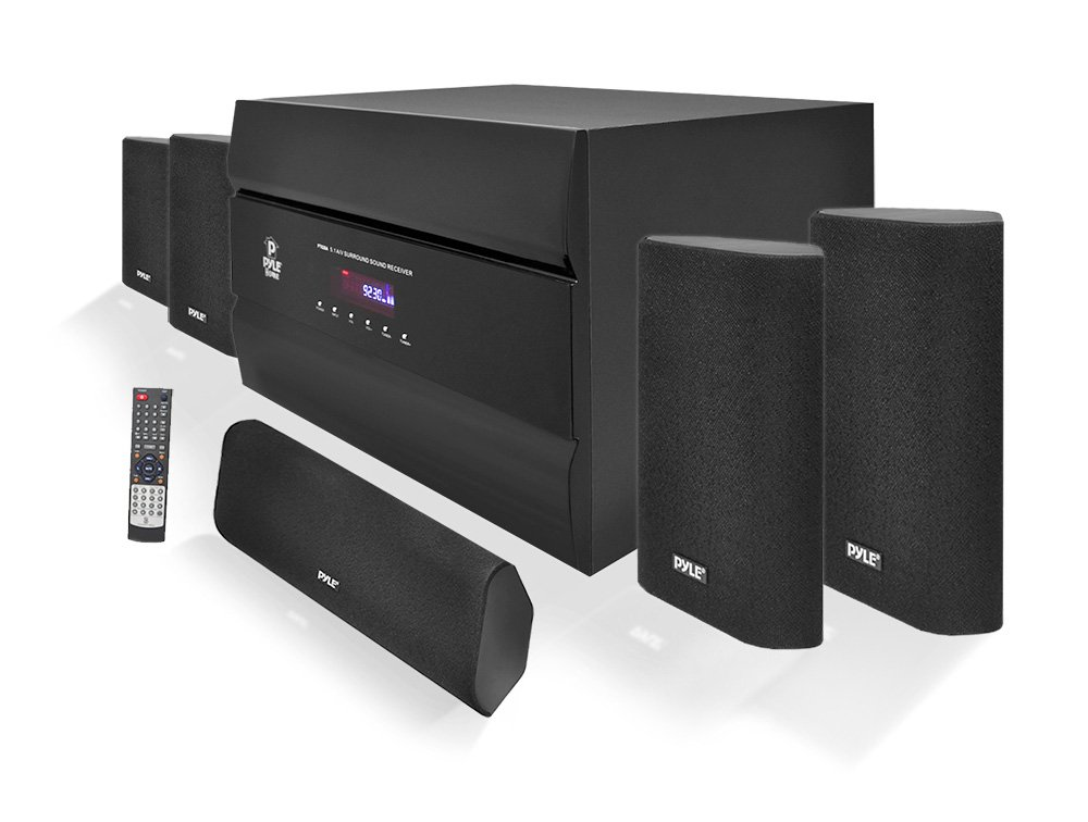Pyle-Home 400W 5.1 Channel Home Theater System with AM/FM Tuner PT628A Sound Around