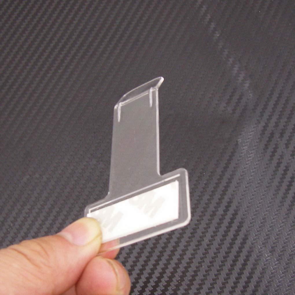 Beaums 5PCS palo en boleto de estacionamiento del parabrisas Clip multas Permiso abrazadera de pago Pantalla del parabrisas del sostenedor de nota