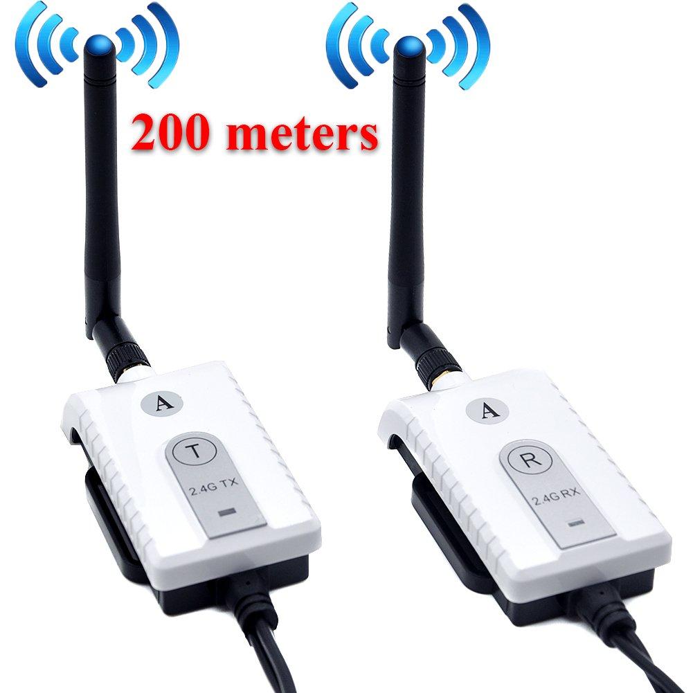 Auto Wayfeng WF® Voiture 2.4 GHz Sans Fil AV Câble Transmetteur et Récepteur Pour Bus Voiture Vidéo Moniteur Camion Inverser Vue Arrière Caméra de Recul 200 Mètres Gamme