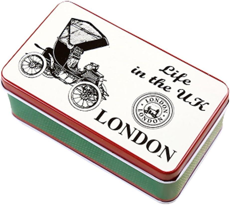 Blancho 2PCS mini-bo/îte de rangement de support de carte postale bo/îte en fer D