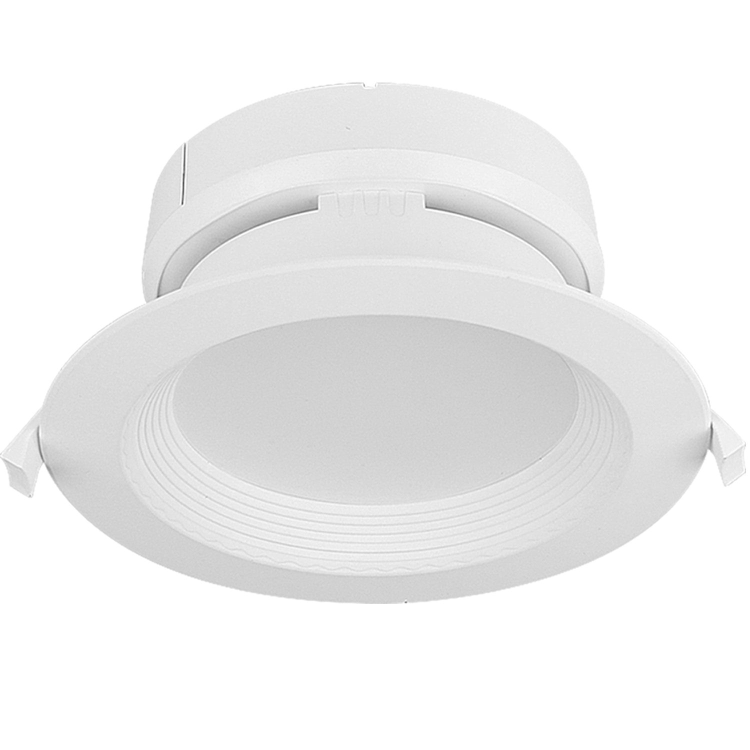 hykolity 6 Inch LED Recessed Downlight Dimmable Baffle Trim Ceiling Light Fixture with Junction Box 15W [105W Equivalent] 4000K Neutral White 1500lm Wet Rated ETL Listed - Pack of 4