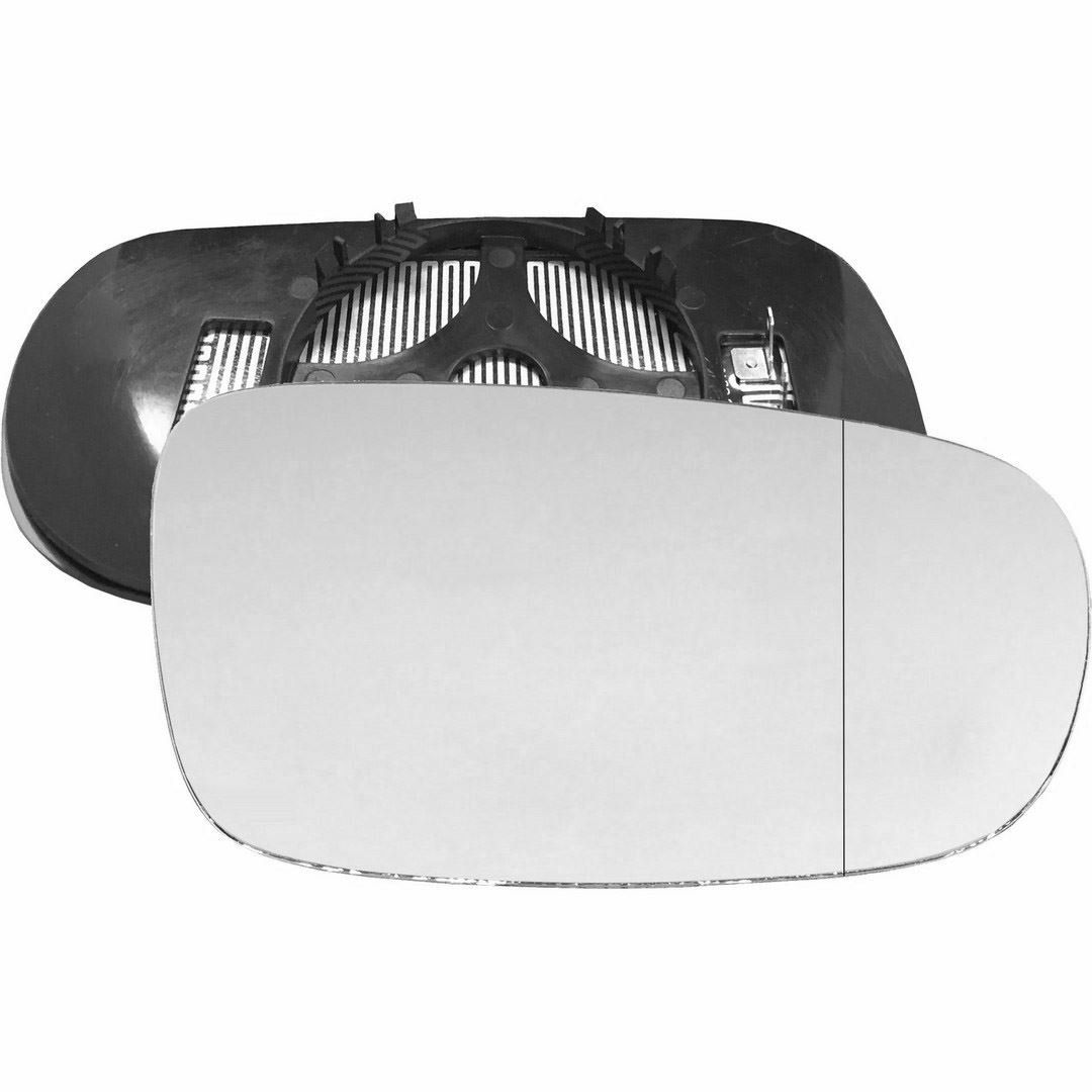 Driver right hand side Heated wing door Silver mirror glass with backing plate #W-SHY/R-SB9302 [Clip On]