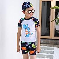 Boy Swimwear 3 Piece Swimsuit Age 2-12 Baby Boy Kid Child Summer Swim Wear Shorts Cartoon Print Toddler Swim ng Trunks…