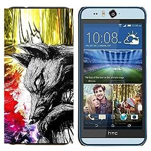 TECHCASE---Cubierta de la caja de protección para la piel dura ** HTC Desire Eye ( M910x ) ** --Pintura abstracta Mundial