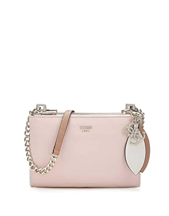 f43391fe4d Guess bag pink multicolored shoulder bag Lou Lou mini (One Size - Pink)   Amazon.co.uk  Clothing