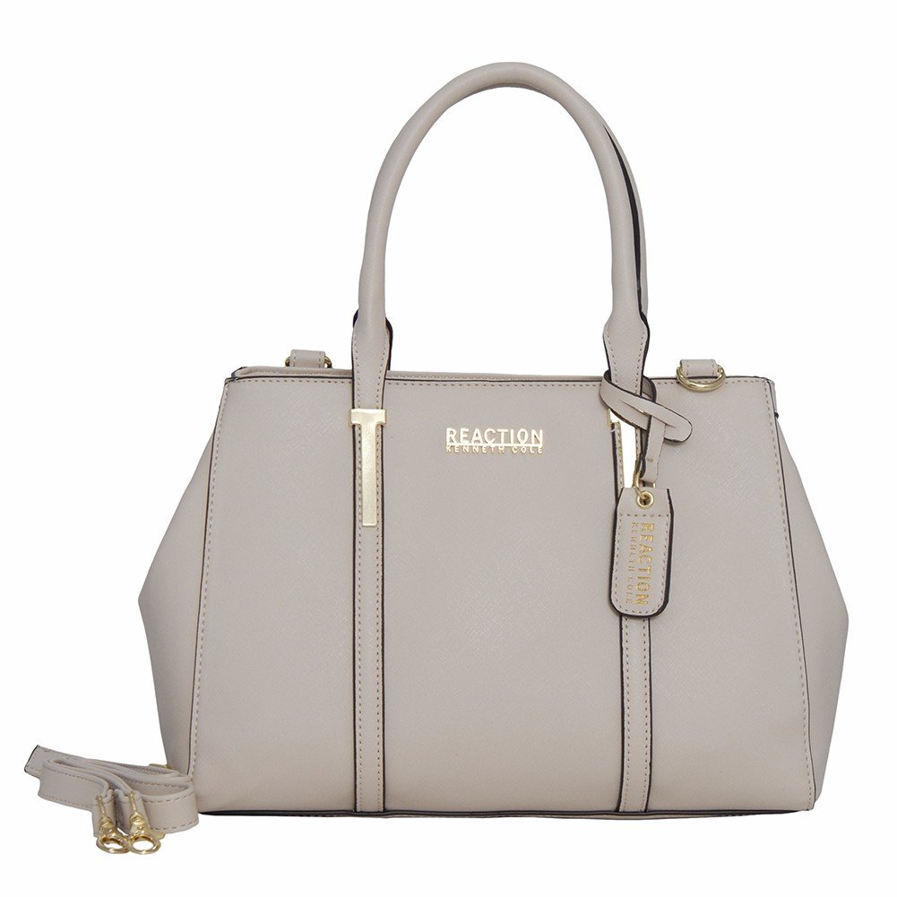 Kenneth Cole Reaction KN1860 Triple Entry Harriet Satchel Handbag (STONE)